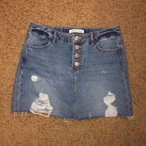 Distressed Jean skirt Girls 11/12